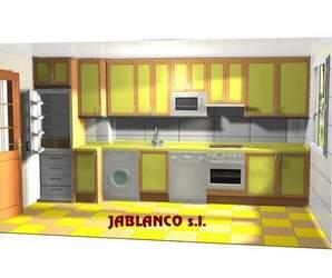 Diseño de cocina para cliente Cocinas Jablanco